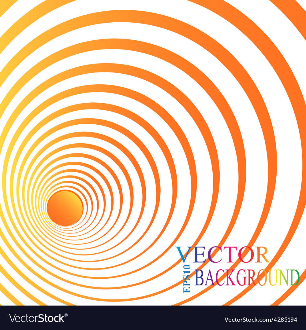 3d perspective circle background vector image