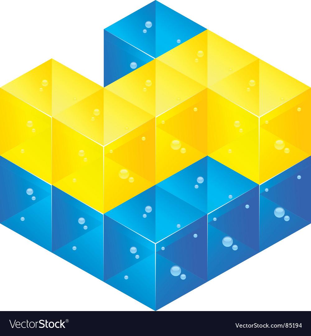 Glass bricks vector image