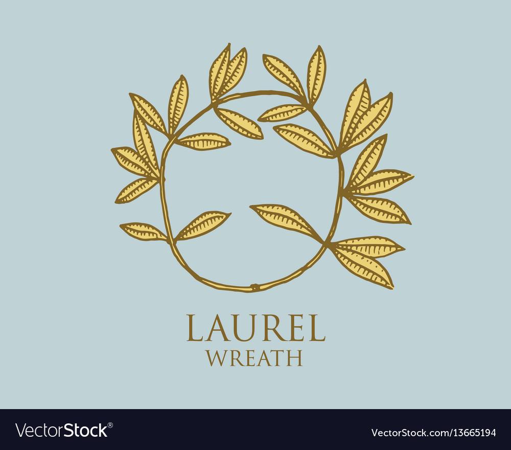 Logo of ancient greece antique symbol laurel vector image