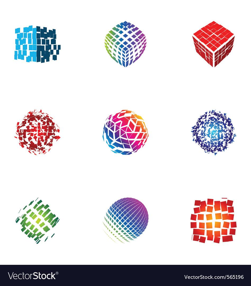 Logo design elements set 28 vector image