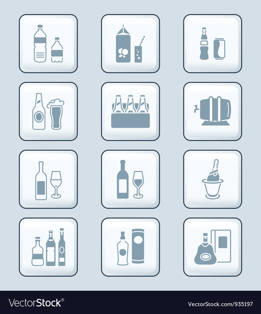 Drinks set tech vector image