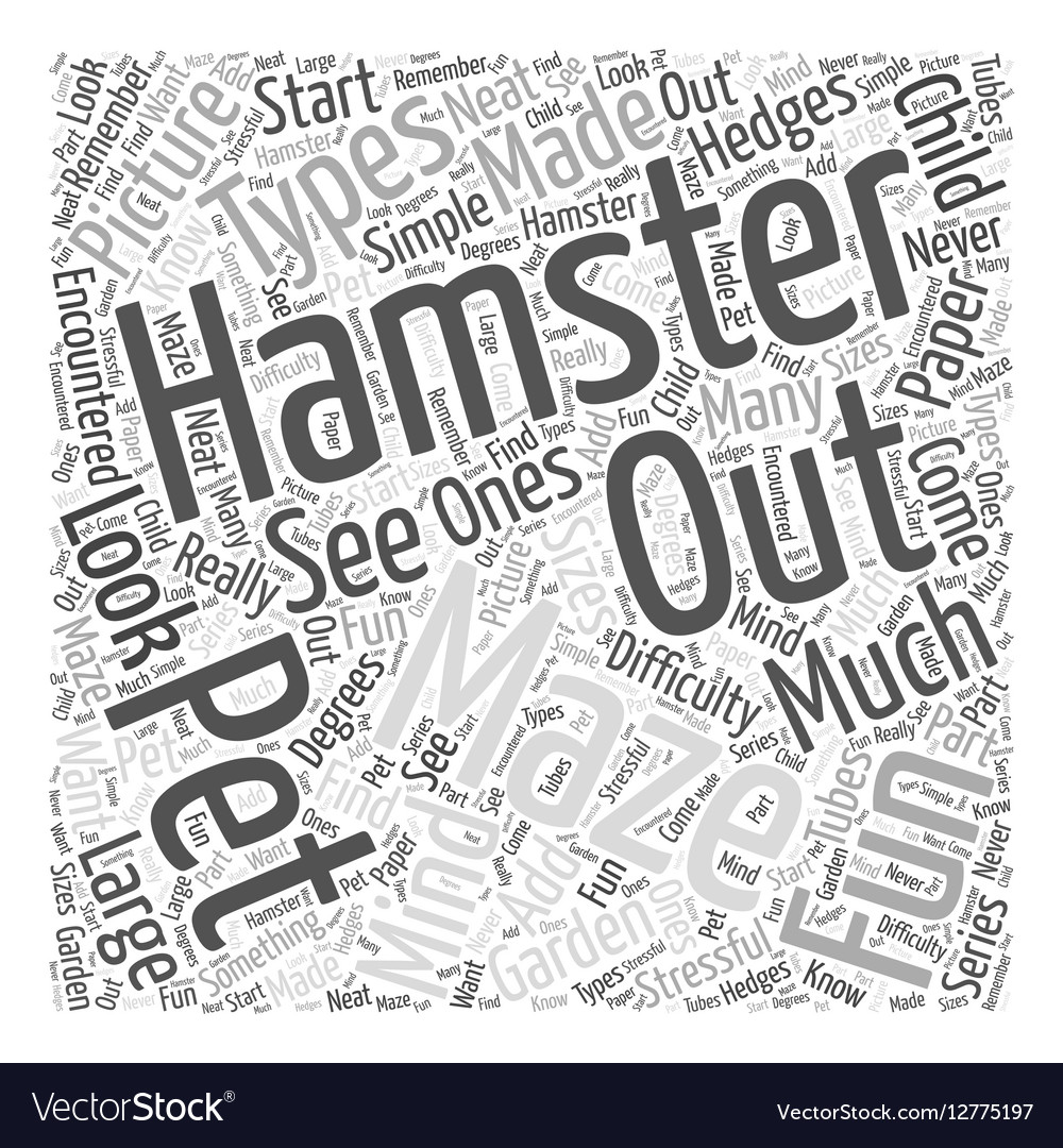 Hamster mazes Word Cloud Concept vector image