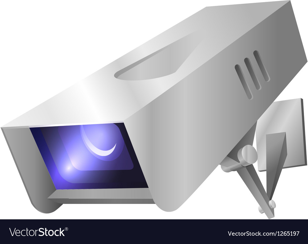 Outdoor security camera vector image