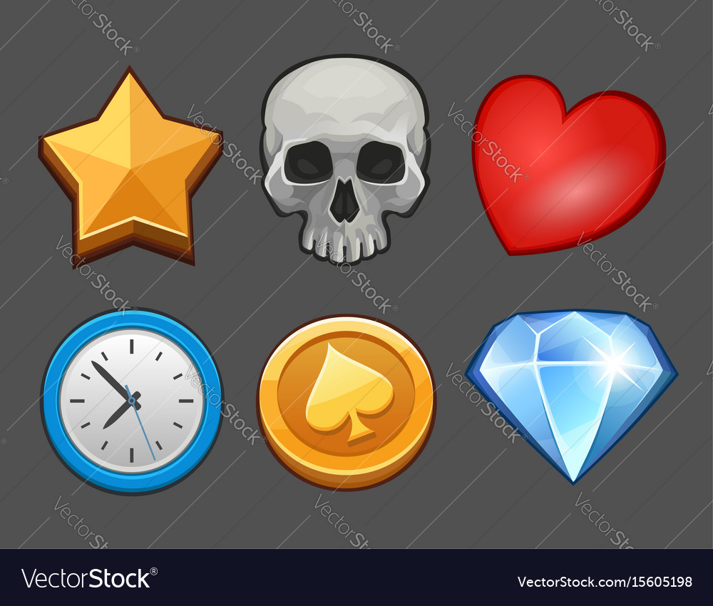 Cartoon icons set vector image