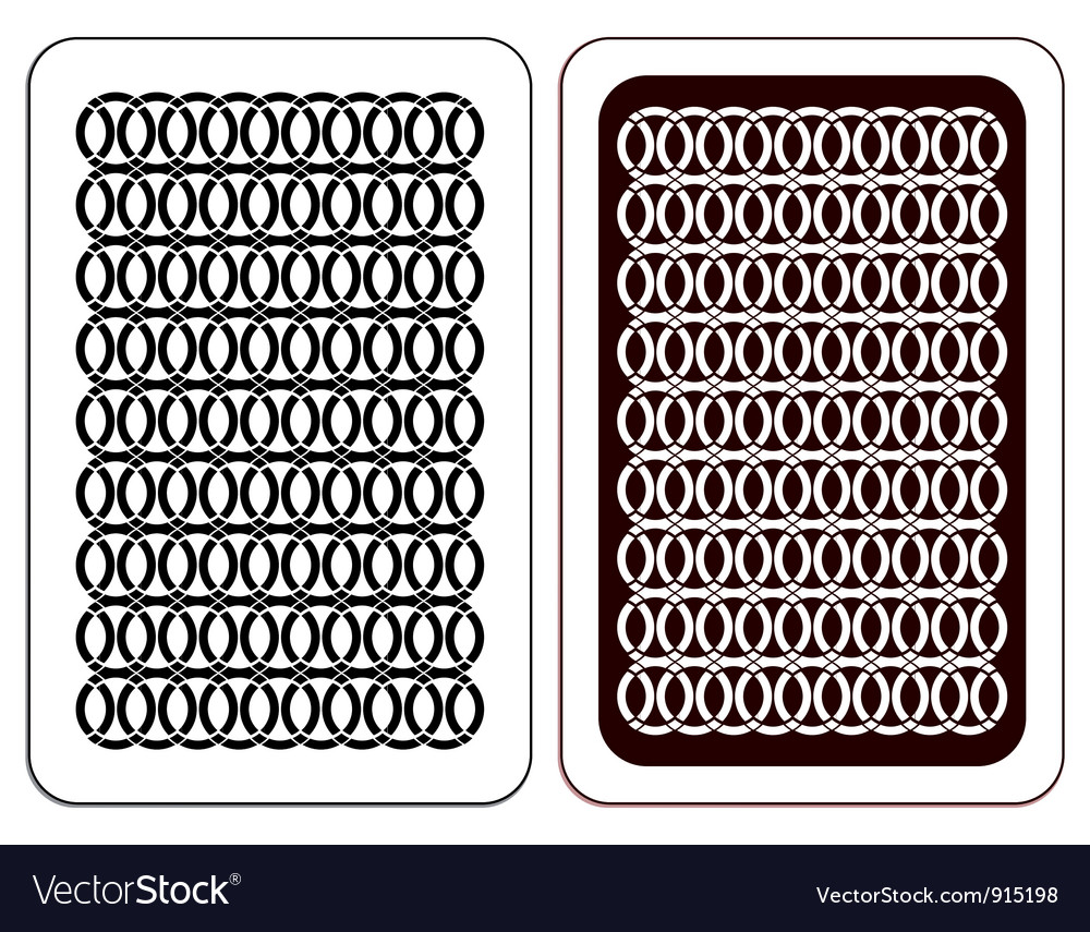 Design Playing card vector image