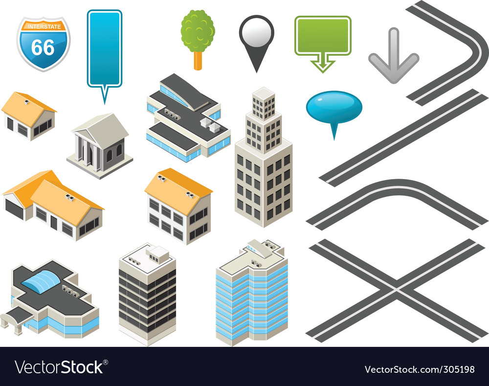 Map toolkit vector image