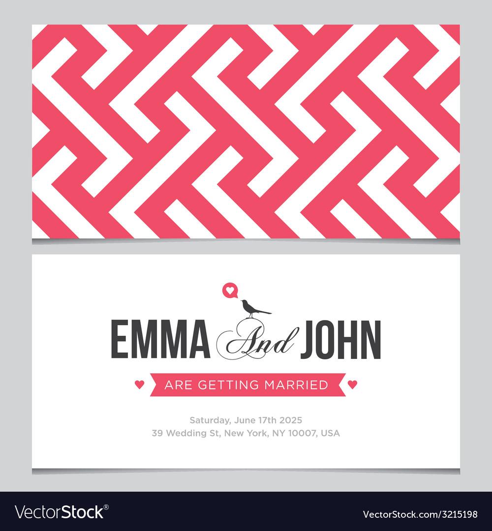 Wedding card pattern 02 vector image