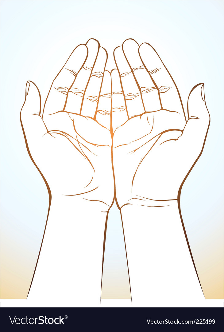 Hand holding vector image