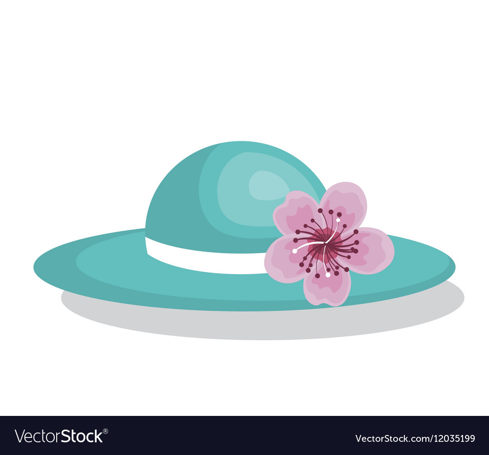 Hat female fashion isolated icon vector image