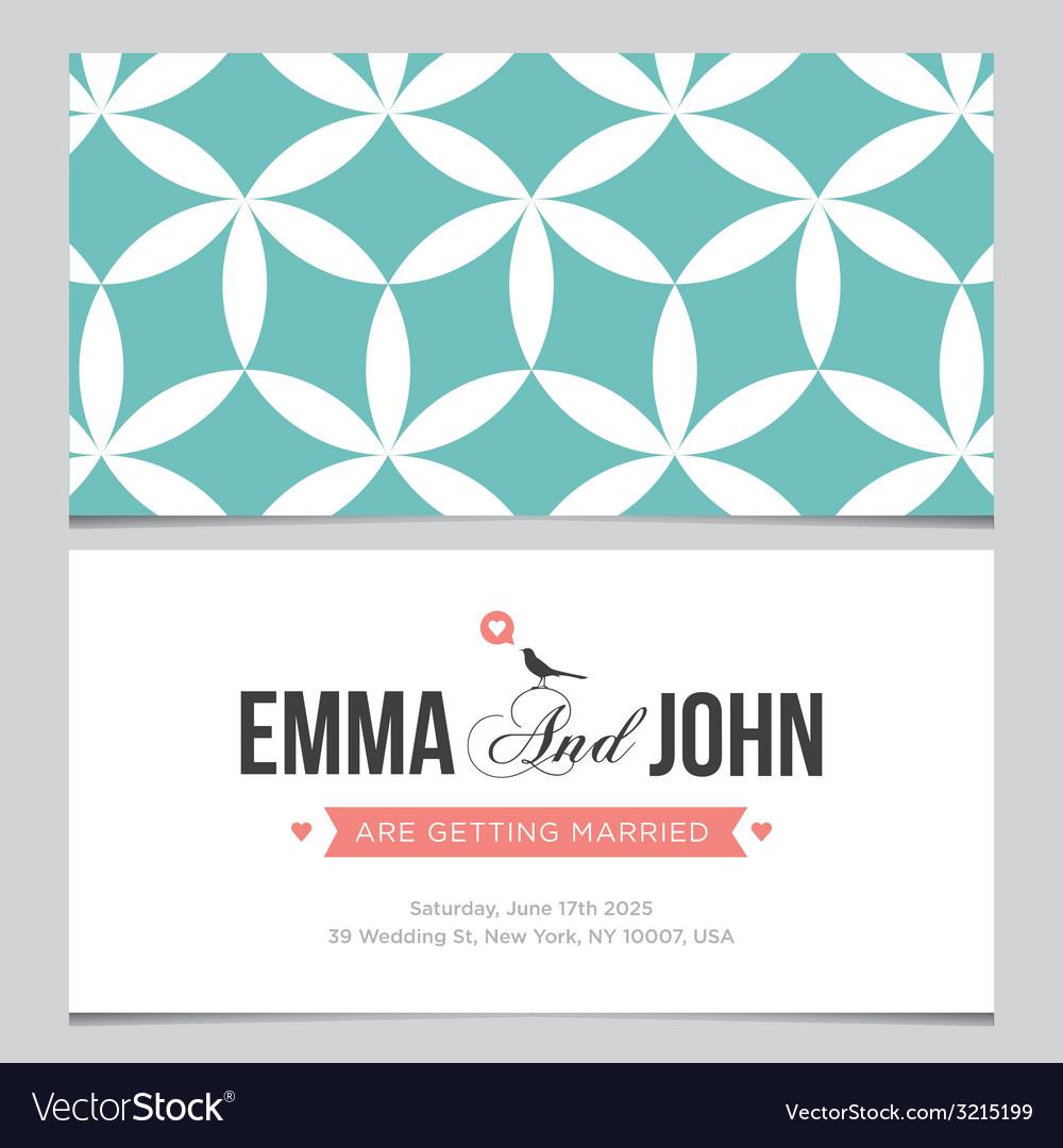 Wedding card pattern 03 vector image