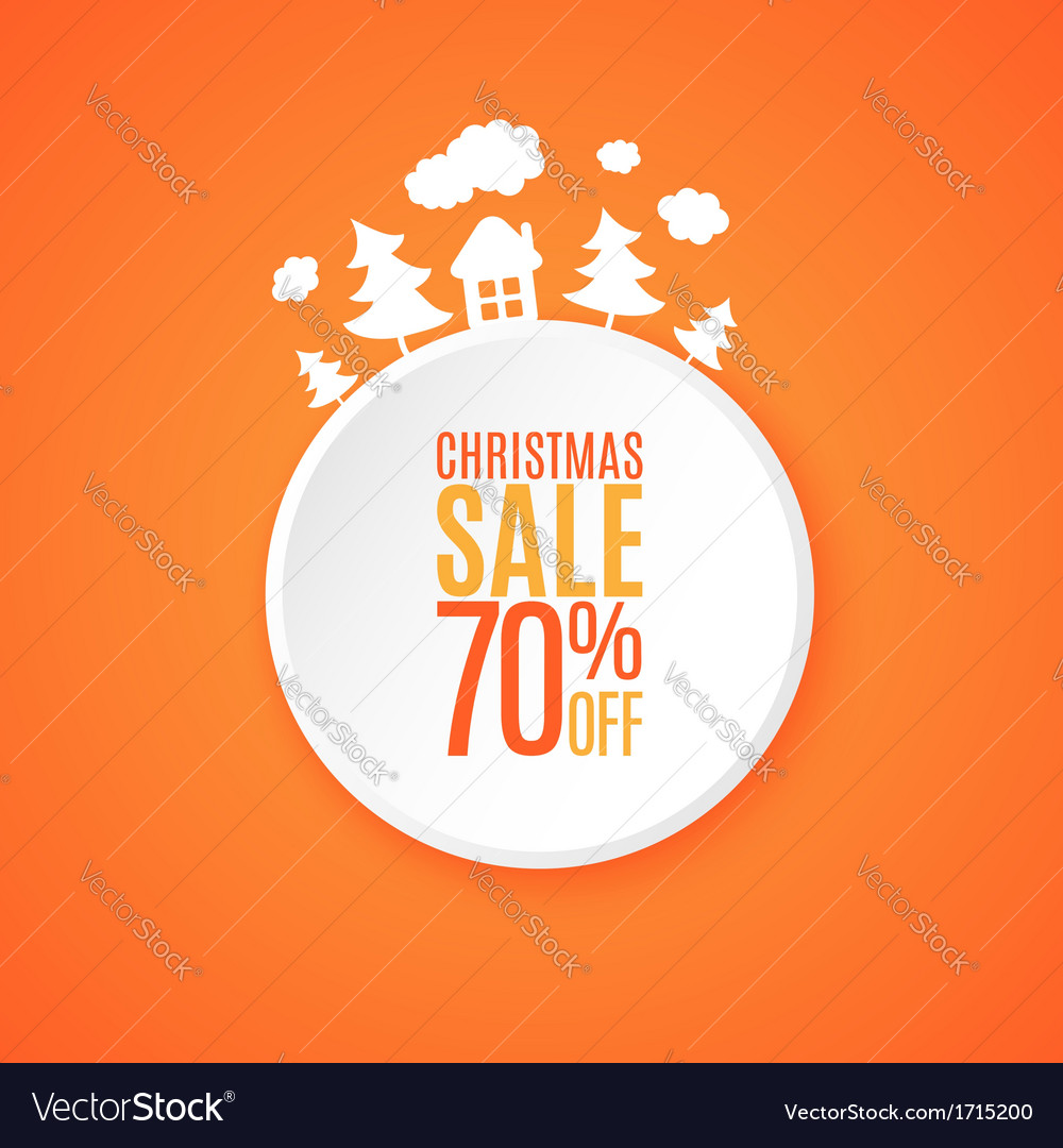 Christmas sale banner Royalty Free Vector Image