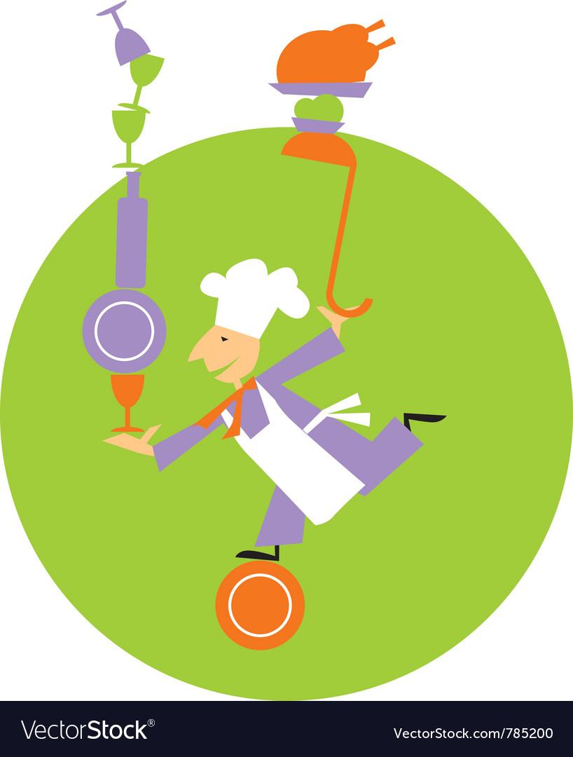 Chef equilibrium vector image