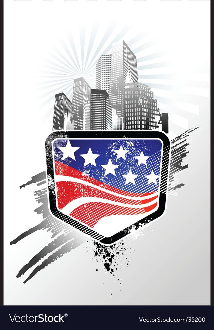 American emblem vector image