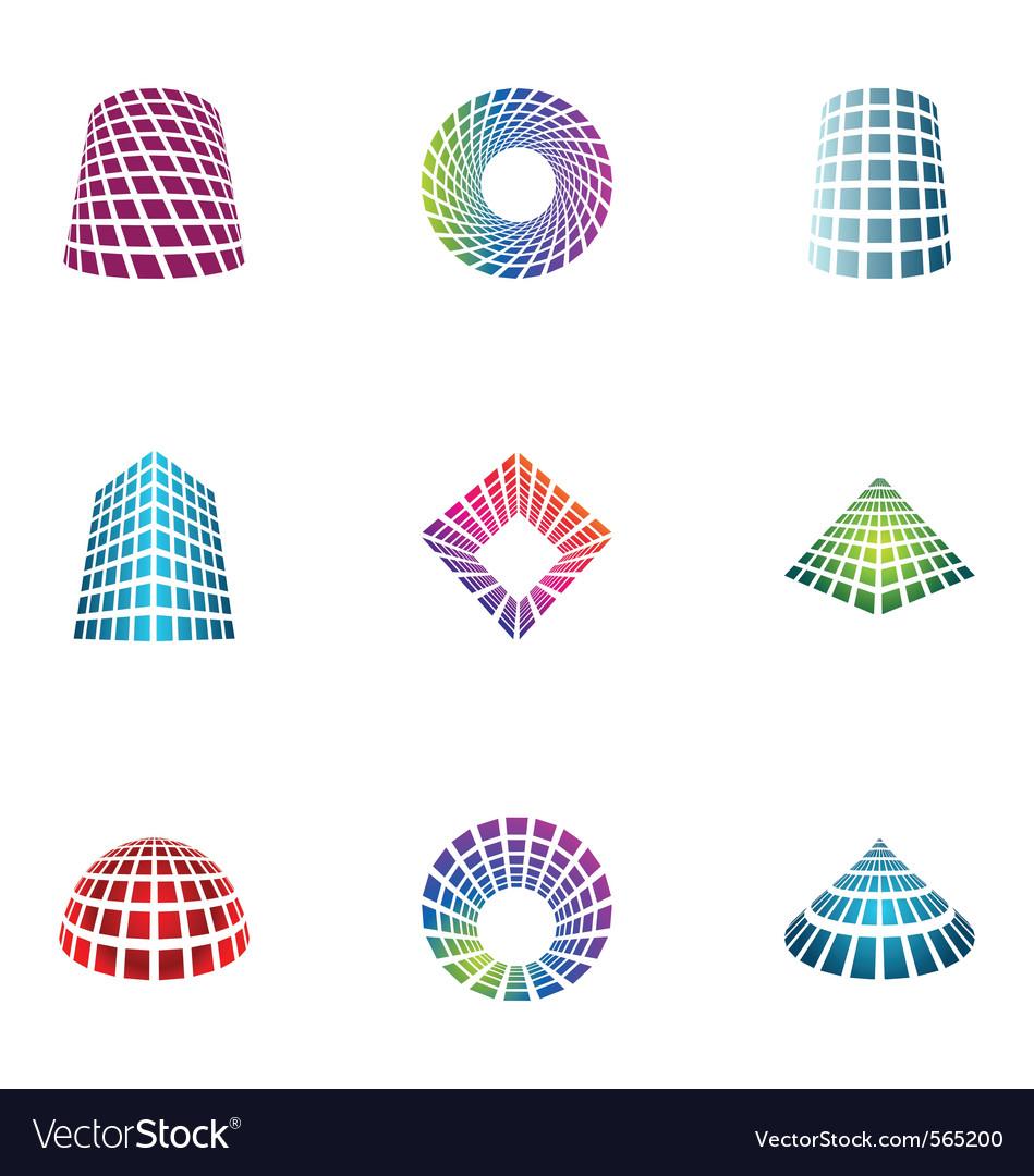 Logo design elements set 30 vector image