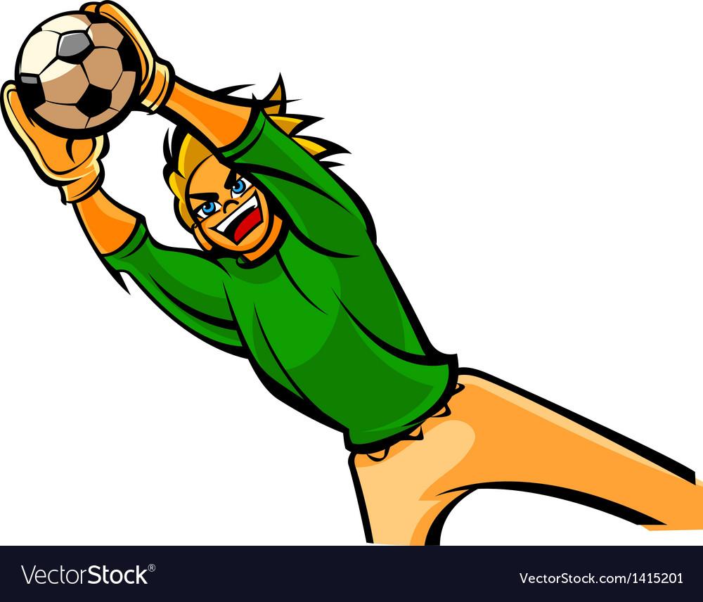 Close-up of man playing ball vector image