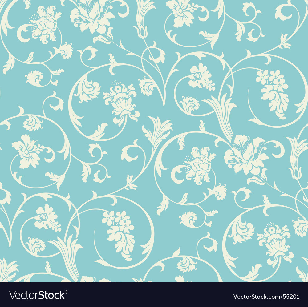 Vintage wallpaper pattern Royalty Free Vector Image