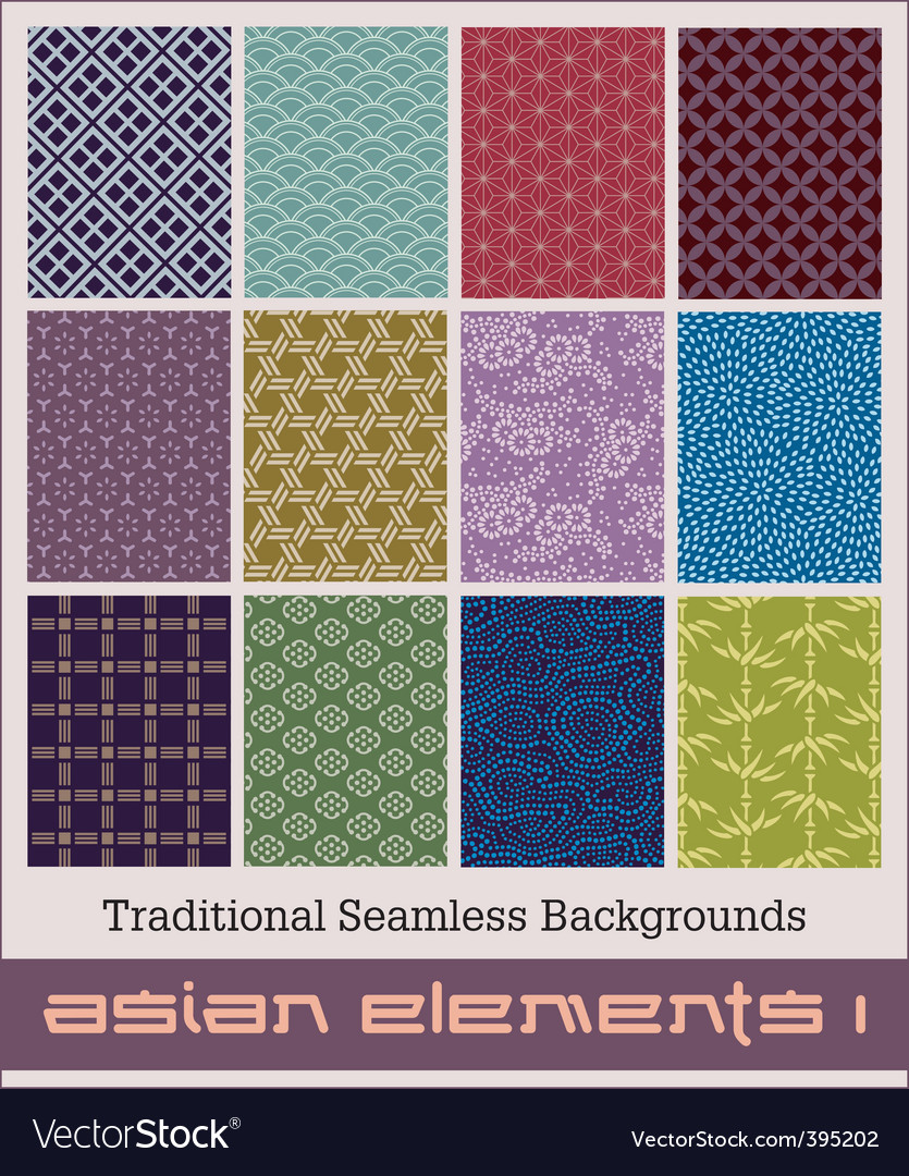 Asian elements vector image