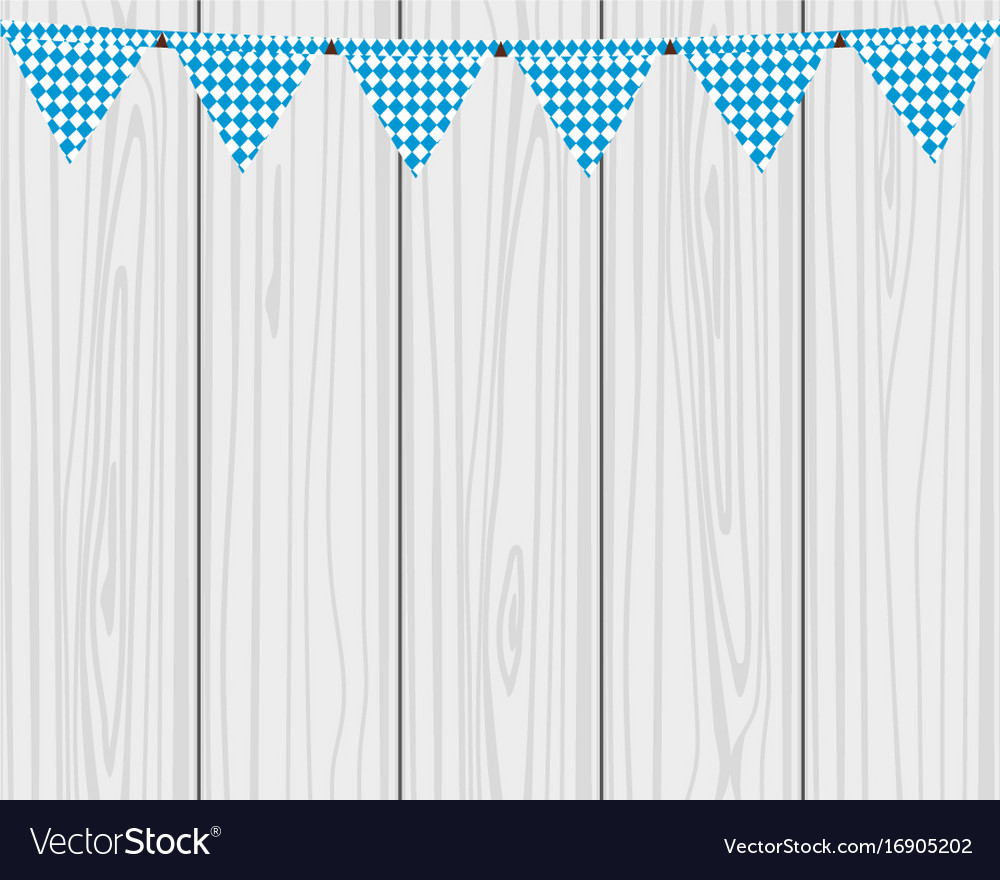 Flags hanging colors of the bavarian flag vector image