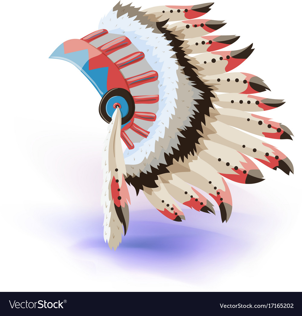 native american indian headdress color vector image - Native American Pictures Color