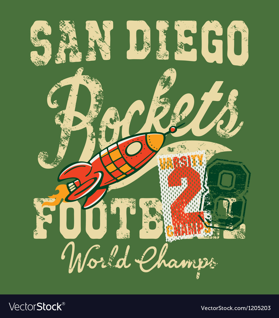 Cute rockets football team vector image