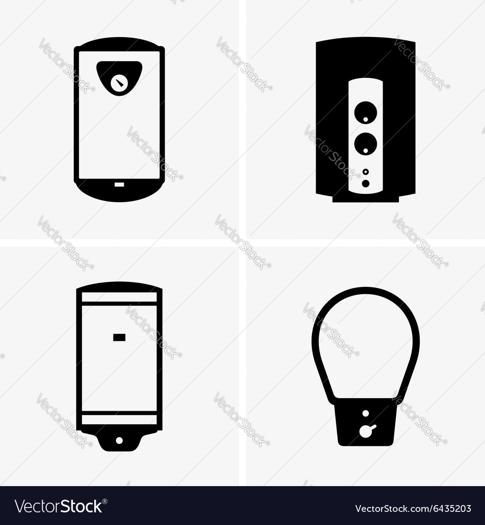 Electric water heaters royalty free vector image electric water heaters vector image biocorpaavc