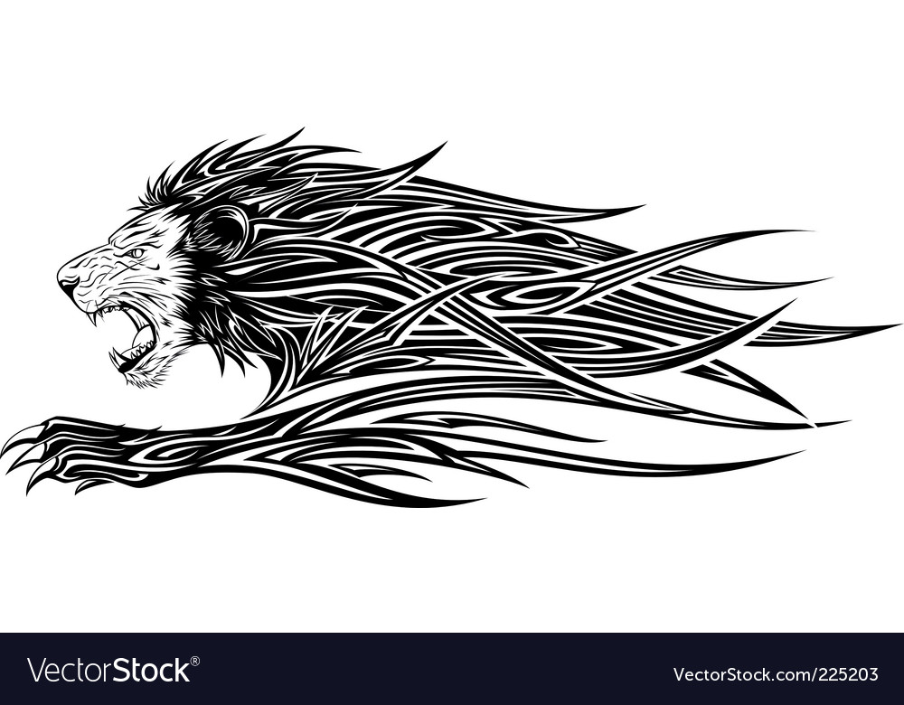 Line Drawing Lion Head : Lion tattoo royalty free vector image vectorstock