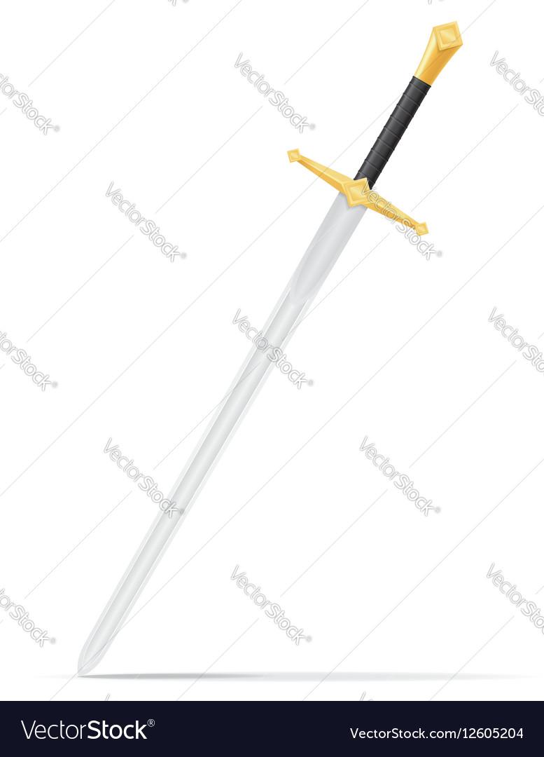 Battle sword 02 vector image