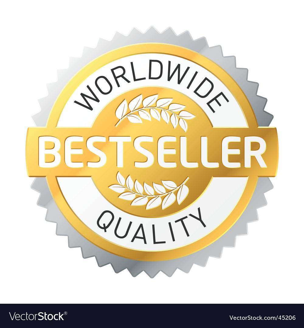 Bestseller label vector image