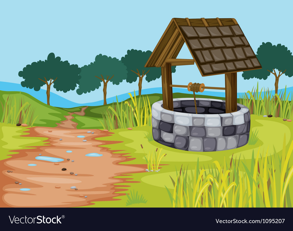 A well vector image
