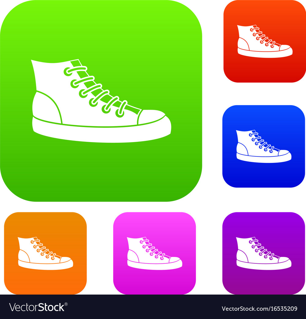 Sneakers set collection vector image