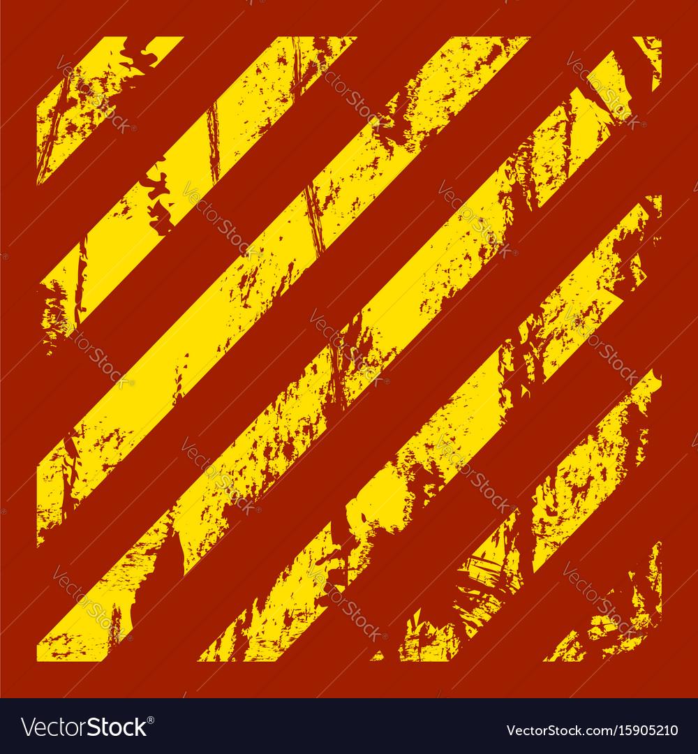 Danger warning grunge red background vector image