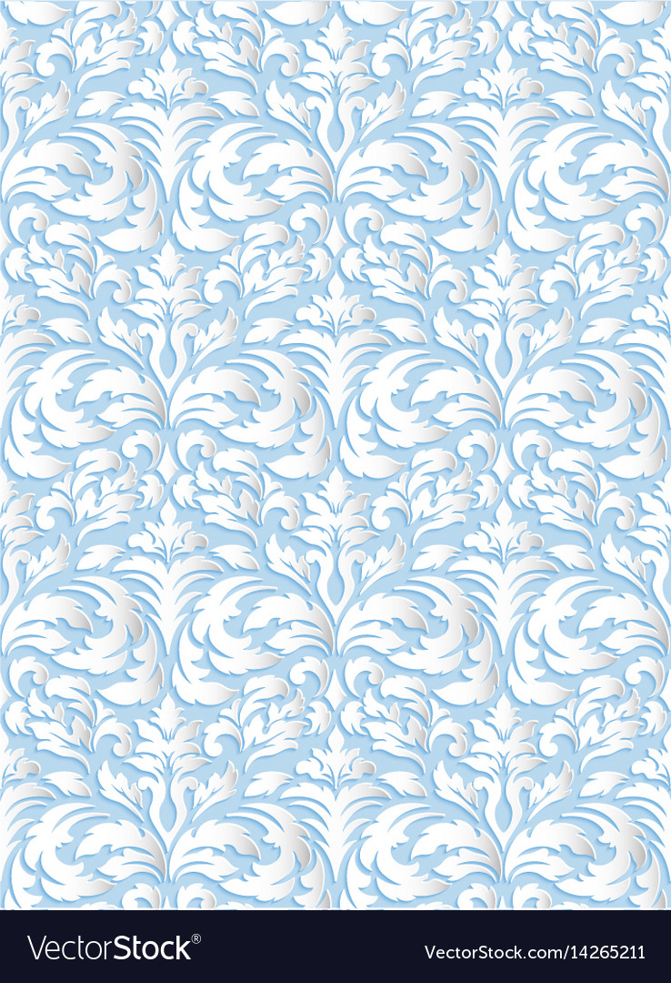 Damask seamless pattern background elegant luxury vector image