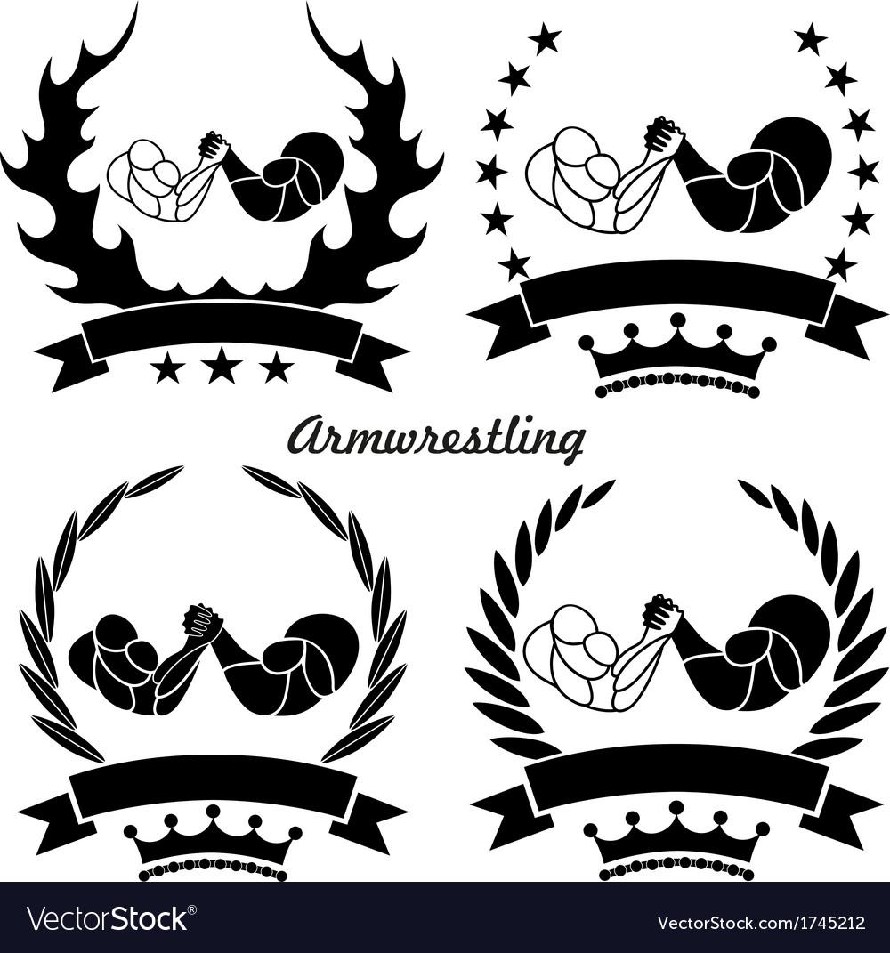 Arm-wrestling vector image