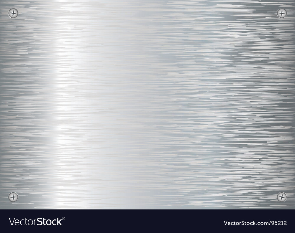 Brushed silver vector image