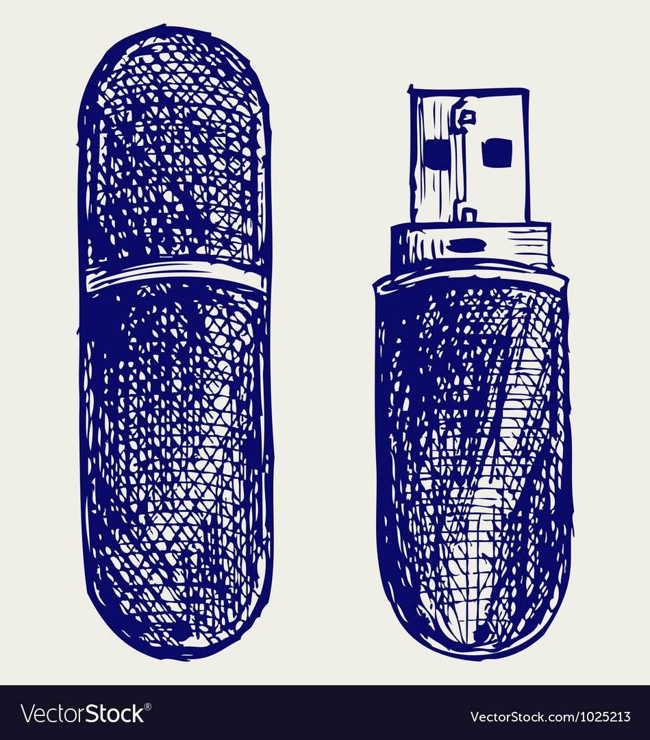 Usb flash memory vector image