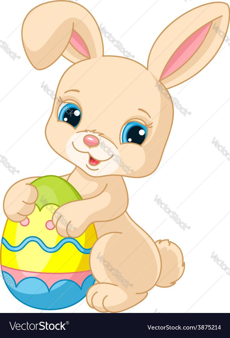 easter bunny royalty free vector image vectorstock