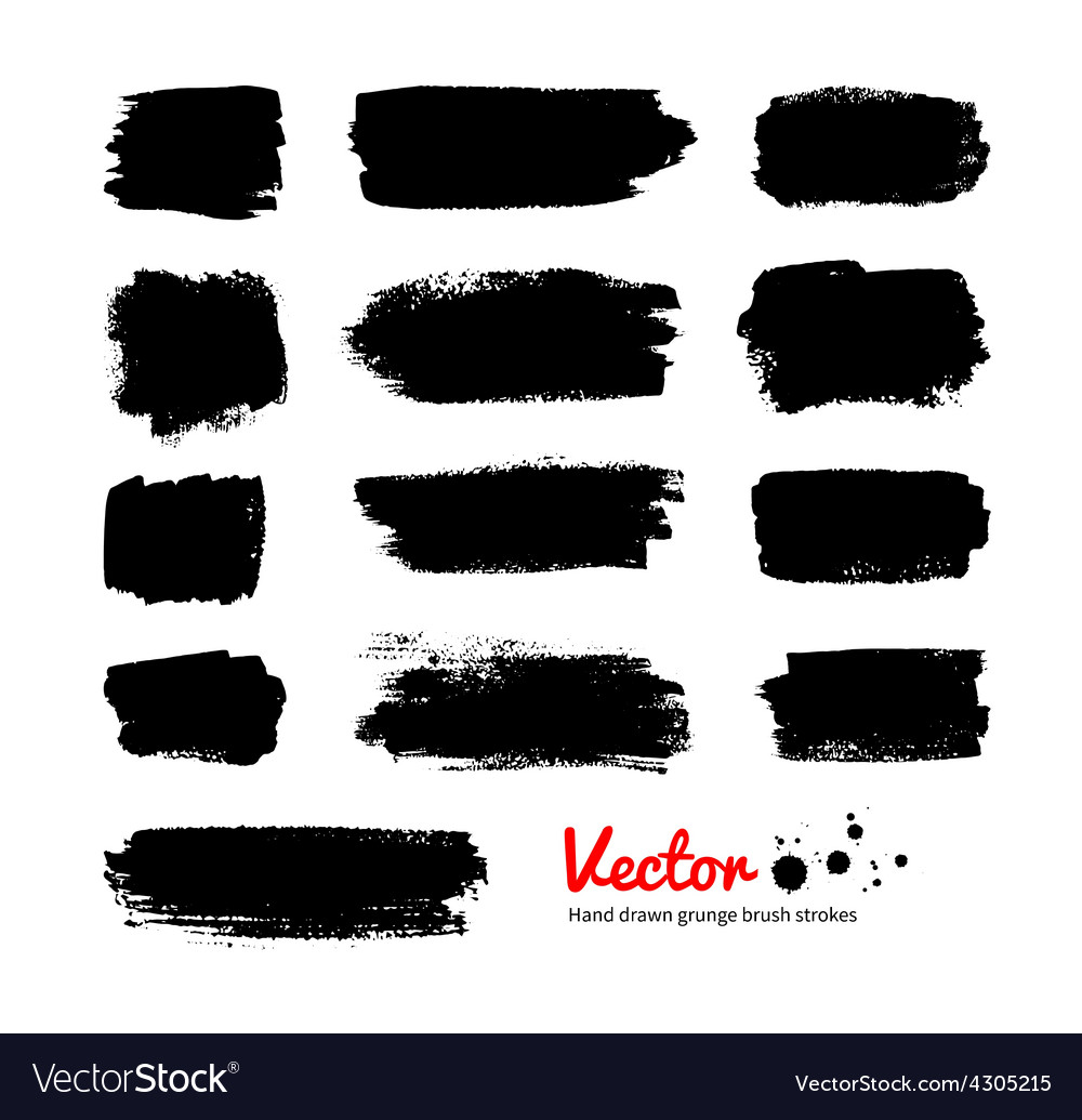 Black grunge banners vector image