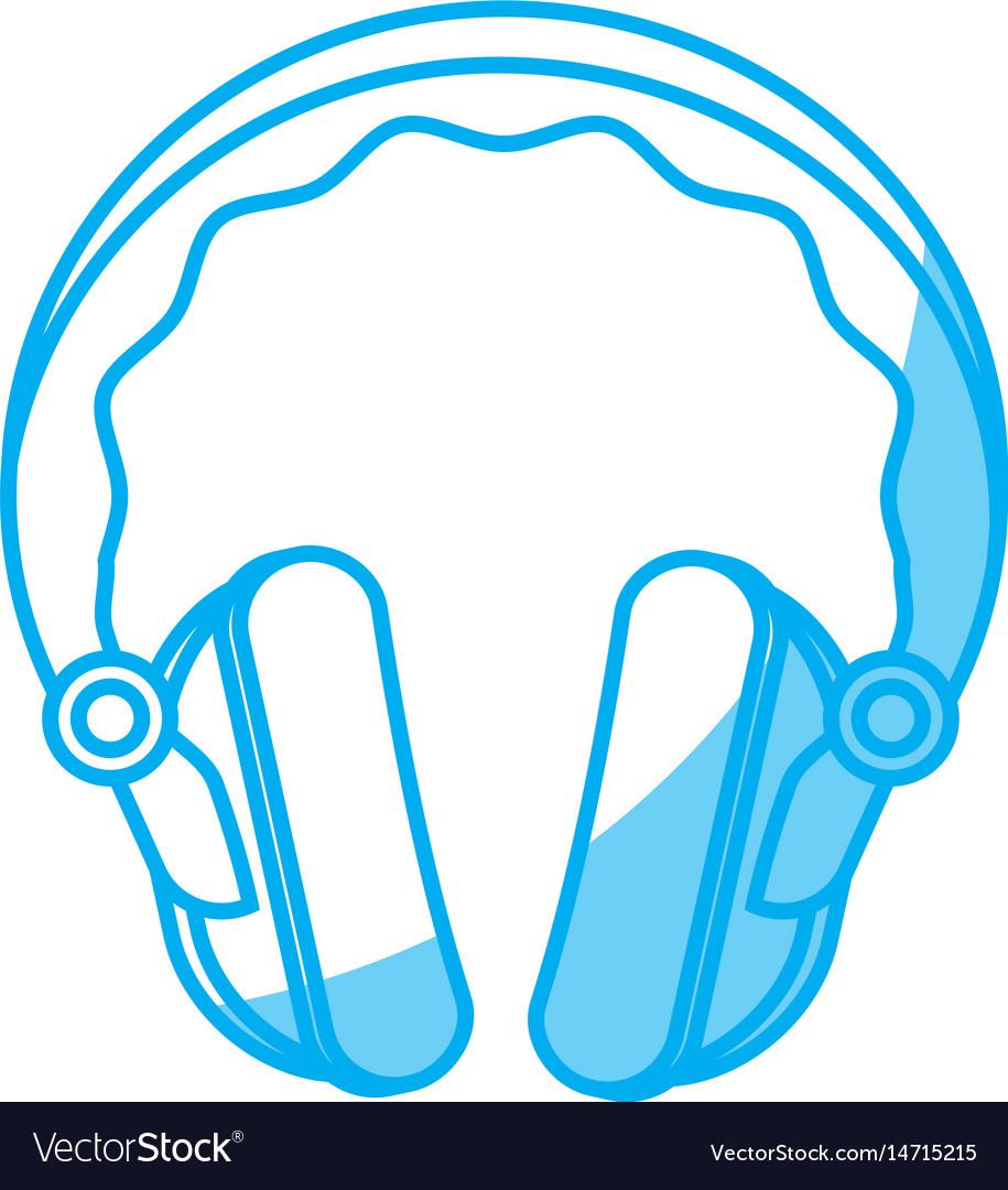 Headphone gadget icon vector image