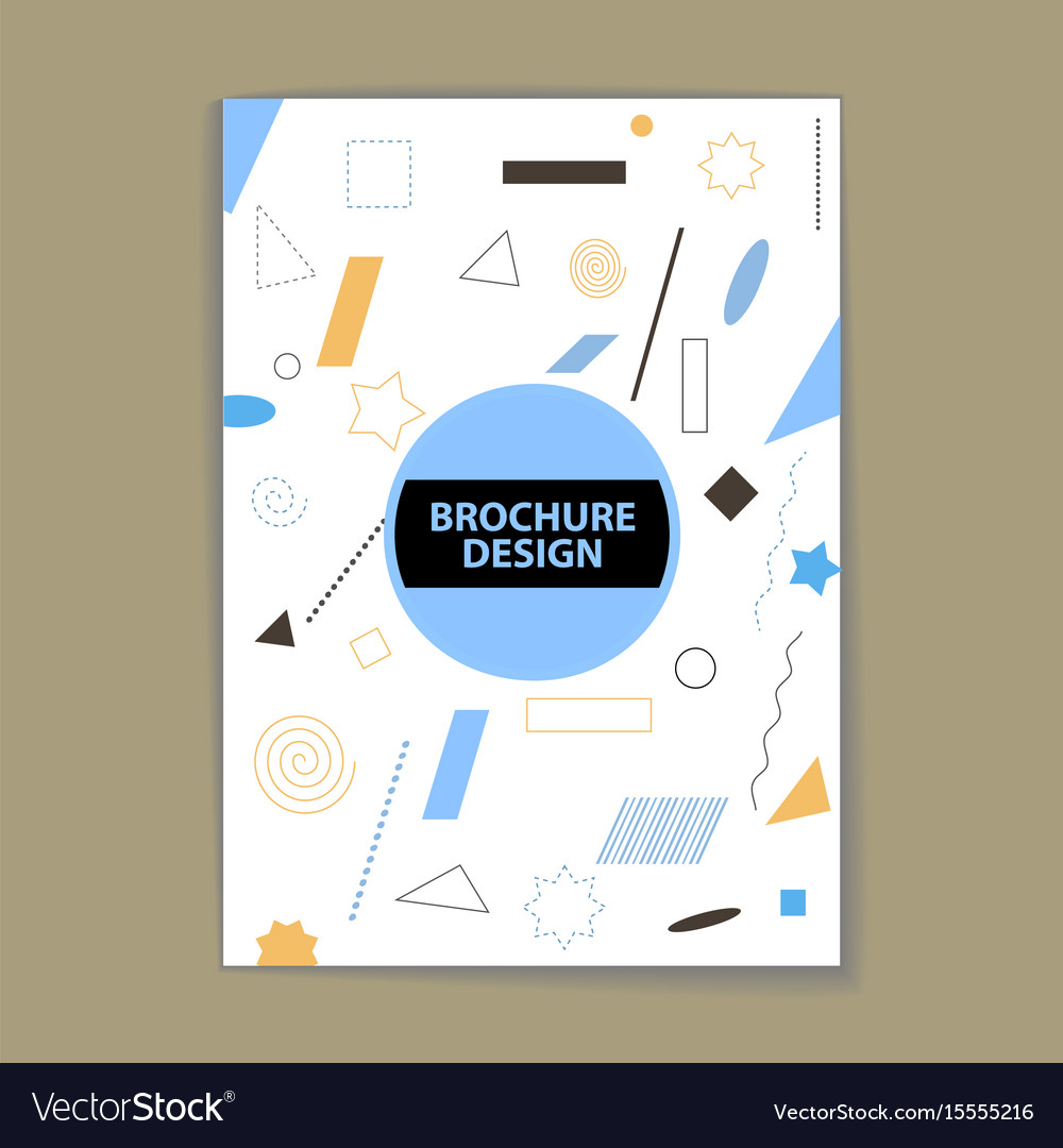 Chaotic geometry cover vector image