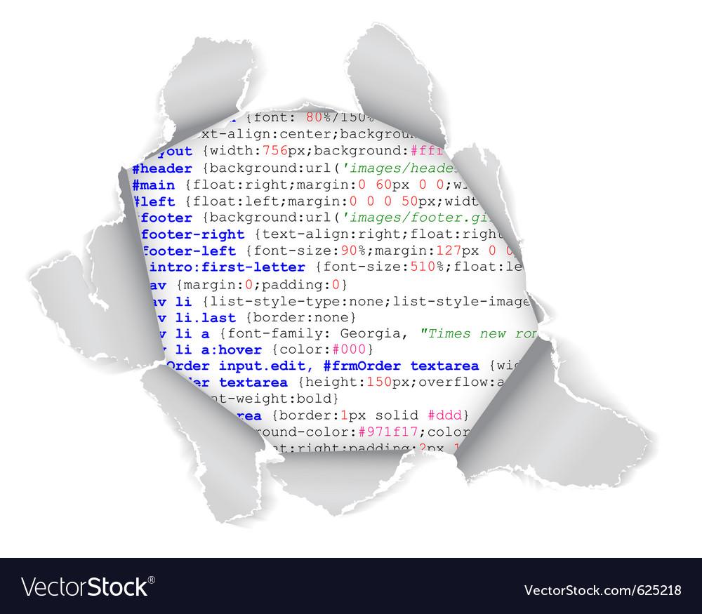Webpage hole vector image