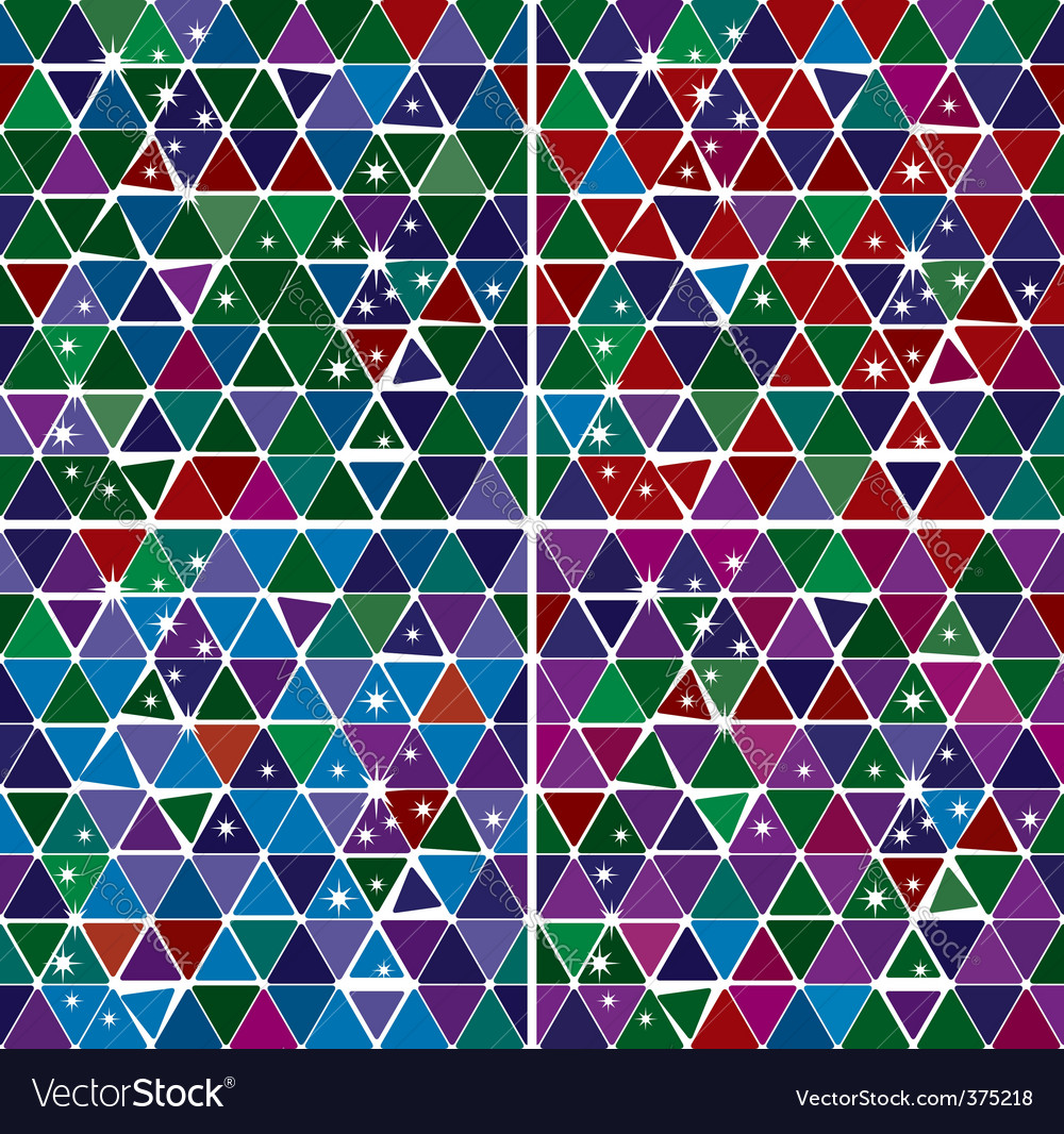 Bright gem triangle pattern set vector image