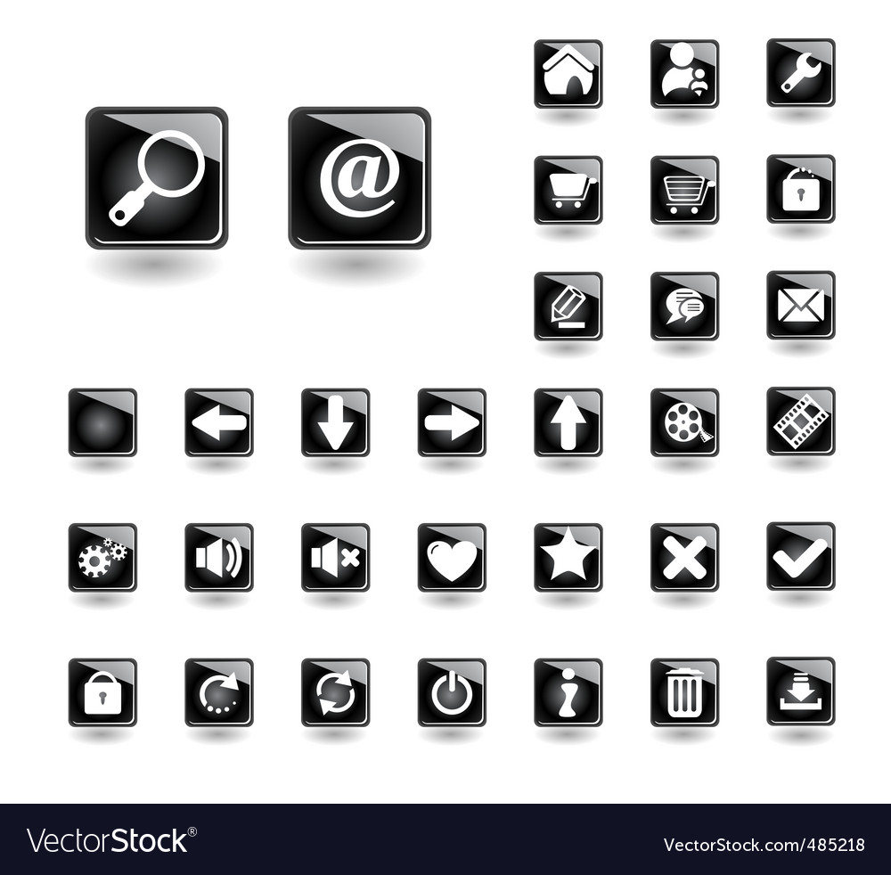Buttons for websites royalty free vector image buttons for websites vector image buycottarizona Choice Image