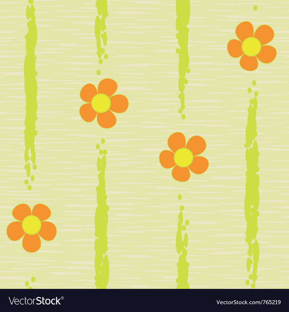 Abstract flowers seamless vector image