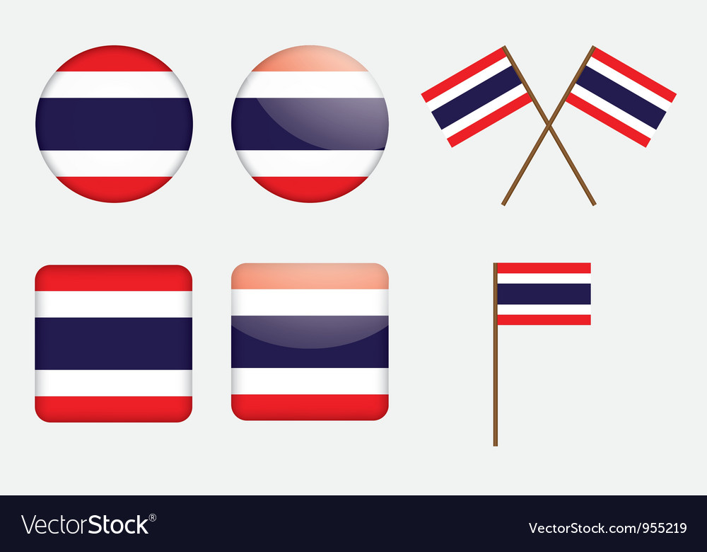 Badges with flag of Thailand vector image
