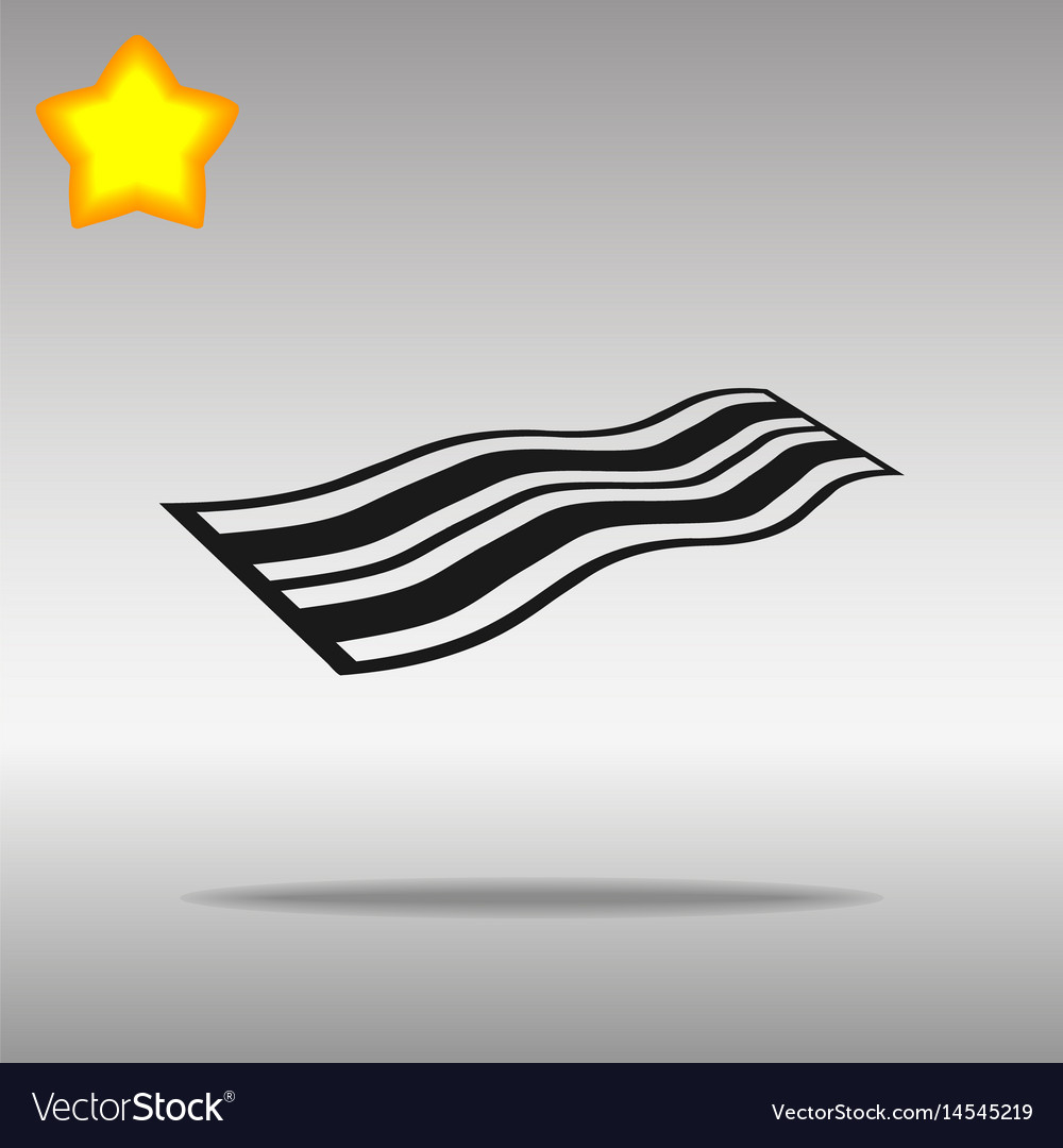 Black towel icon button logo symbol concept vector image