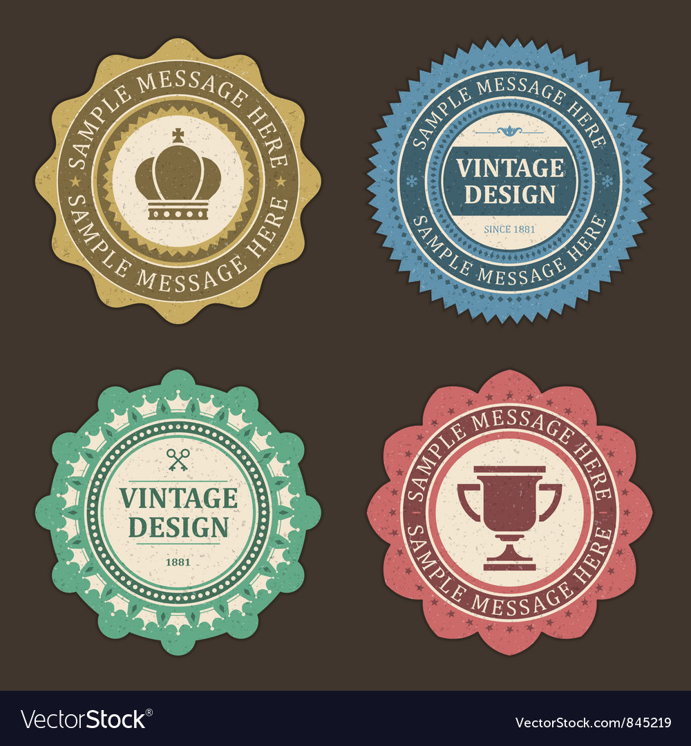 Vintage stickers and labels vector image