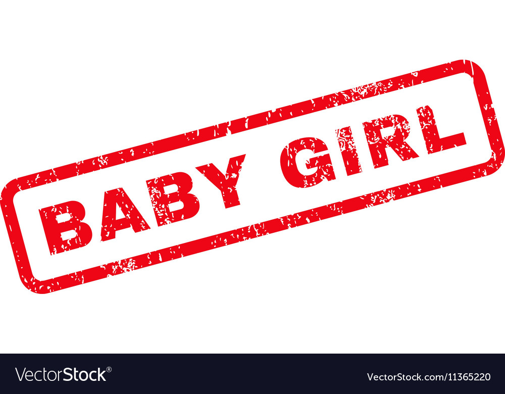 Baby Girl Text Rubber Stamp vector image