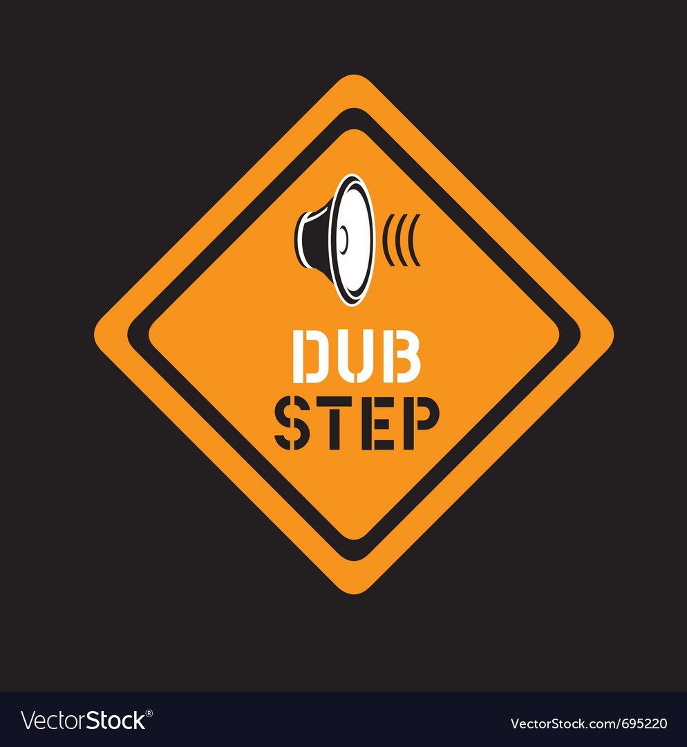 Dubstep sign vector image