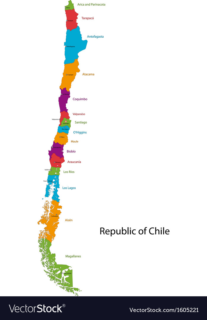 Chile map Royalty Free Vector Image VectorStock