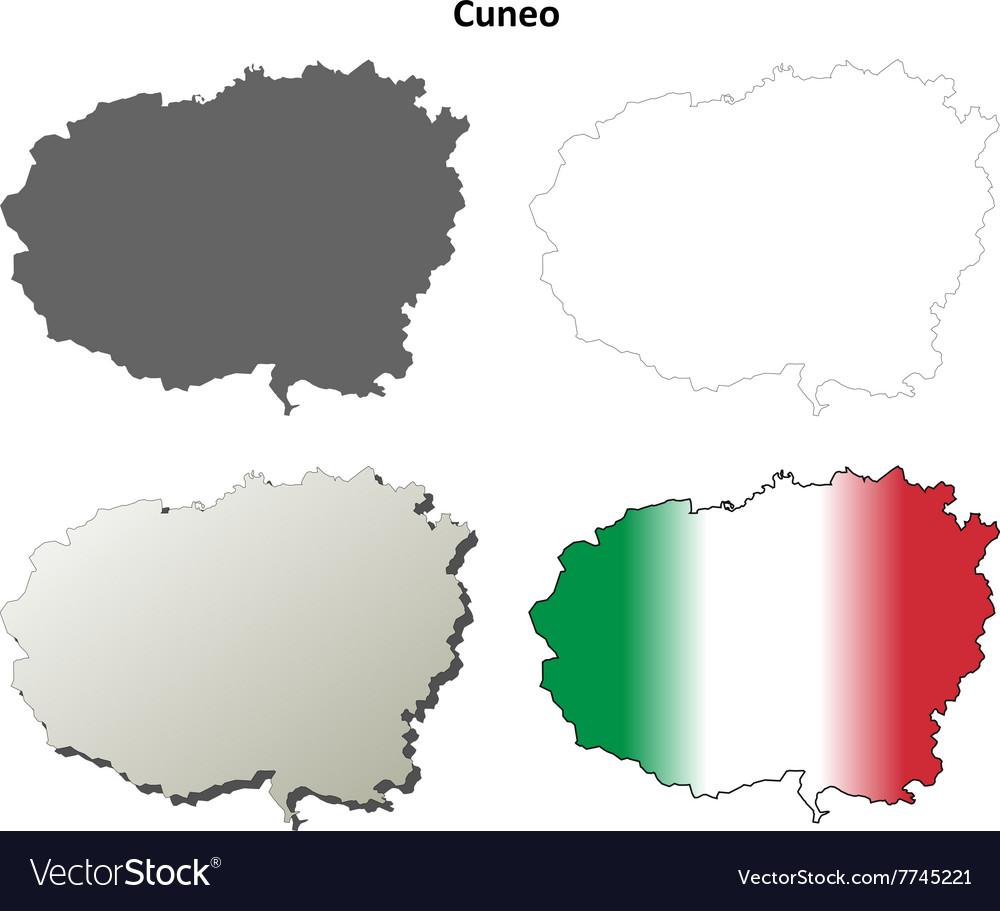 Piedmont Map Vector Images 19